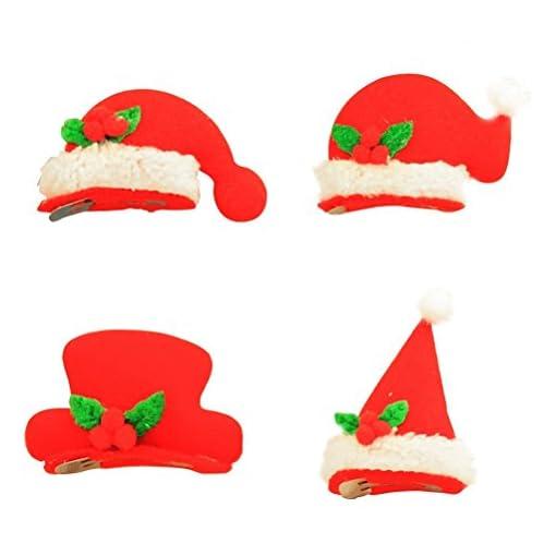 Cappello Babbo Natale Luminoso Led Mollette per Capelli OULII 20 Pezzi Cappelli  Natalizi Fermacapelli 69f2bd484231