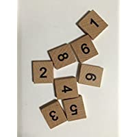Rainbow Bead Creations - Piezas de madera para Scrabble, 100 números (10 de cada uno, del 0 al 9)