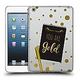 Head Case Designs Gold Noten An Sich Soft Gel Hülle für iPad Mini 1 / Mini 2 / Mini 3