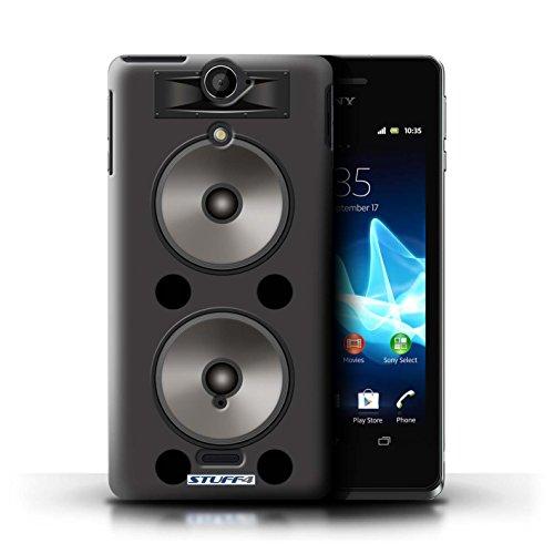 Kobalt® Imprimé Etui / Coque pour Sony Xperia V/LT25i / Autoradio conception / Série Haut-Parleur dessin Double
