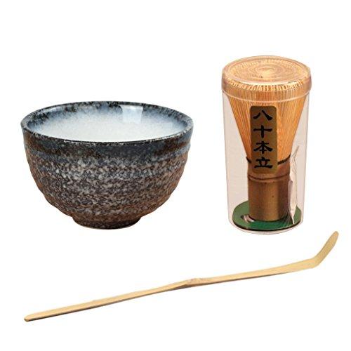 Sharplace Bamboo Japonés Chasen Matcha Tea Batidor/Teascoop/Taza de Montaña de Cerámica