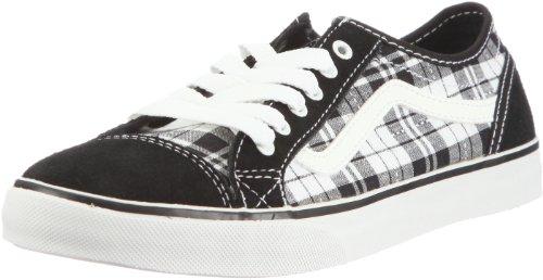 Vans Devan VL985HF, Damen Sneaker, Schwarz (Dash Plaid black/white), 40 (US 9) Plaid Low Top Sneaker