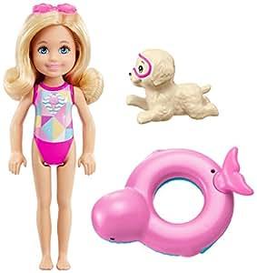 Barbie Mattel FCJ28 Magie der Delfine Chelsea und Farbwechsel-Rettungsring