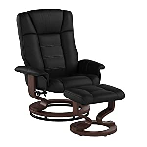 MCombo Relaxsessel mit Hocker, 360°drehbarer Fernsehsessel mit Liegefunktion, bis 130 Kg belastbarer TV-Sessel, moderner…