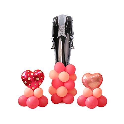 MagiDeal Hochzeit Raum Dekoration Folie Ballon Säule Set für Hochzeit - (Anzug Raum)