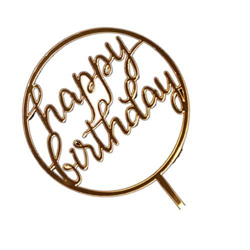 Jinzuke Round-Kuchen-Deckel Hochzeit Geburtstag-Party-Geschenke Dessert Insert-Stick Kinder Alles Gute zum Geburtstag Dekorative Topper