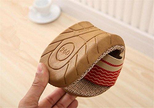 pantofole Pantofole in cotone e biancheria pacchi domestici in lana bianca e interna al termine della protezione ambientale pantofole antisdrucciolevoli in gomma 2pcs A