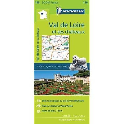 Carte Val de Loire et ses châteaux Michelin