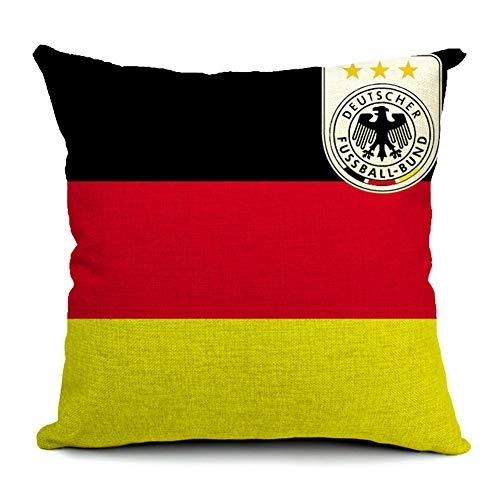 Team-logo-fälle (ZGMWXW@ 2er Set Baumwolle Leinen Platz Dekorative Setzen Fall Sofa Kissenbezug WM-Team-Logo Serie 45 x 45 cm)