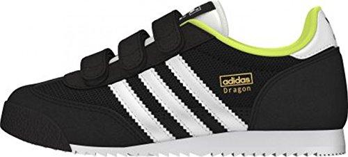 adidas Originals DRAGON CF C, Low-top garçon Black White