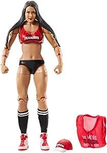 WWE - Elite Figura de acción luchadora Nikki Bella con accesorios de lucha Juguetes niños +8 años (Mattel GCL65)