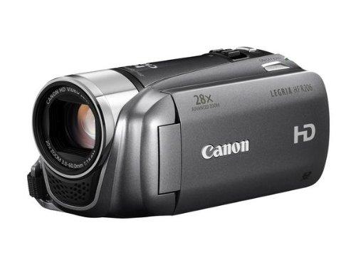 Canon LEGRIA HF R206 Full HD Camcorder (SDXC/SDHC/SD-Slot, 20-fach optischer Zoom, 7,6 cm (3 Zoll) Touch-Display, bildstabilisiert) anthrazit