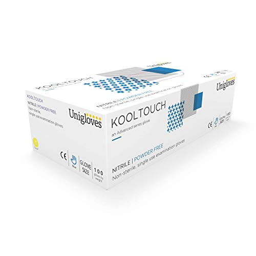 Unigloves gm0041Kool Touch sin polvo guantes nitrilo