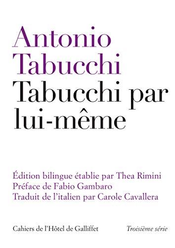 Tabucchi par lui-même