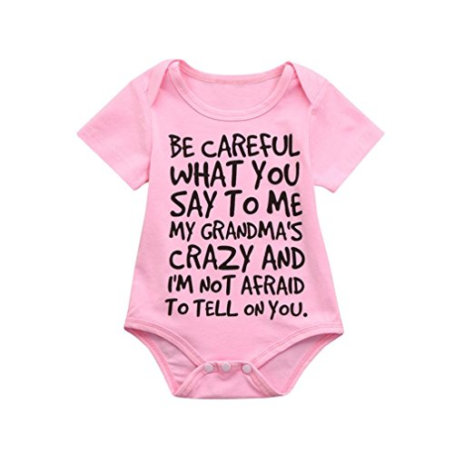 e37f43cf4 squarex Infant Baby Kids Girl Boy Print Romper Jumpsuit Outfits Sunsuit  Clothes (18-24Months, Pink) - Buy Online in Oman.   Apparel Products in  Oman - See ...