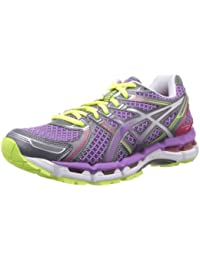 37dc2603e0 ASICS Gel-Kayano 19, Damen Laufschuhe Neon Pink/Sunshine/Black, violett