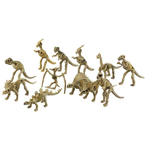 TOYMYTOY Dinosaurier Skelett Figuren Kinder Spielzeug 12 Stücke