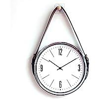 Correa Reloj de Pared/Reloj de Pared Digital, Material Decorativo de Metal Redondo,