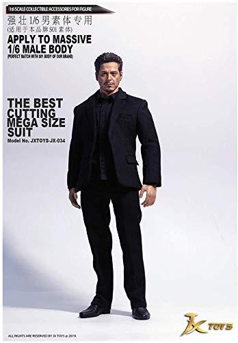 Schwarz Muskel Anzug - ZSMD 1/6JXTOYS-034 Schwarzer Anzug Anzug Für