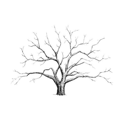 Lienzo de árbol para huellas dactilares y firmas, decoración para banquete de boda, 30 x 40 cm