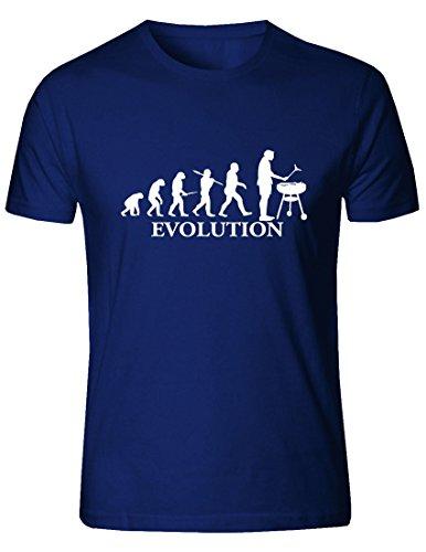 T-shirt da uomo Evolution Barbeque. (Blu, XXLarge)