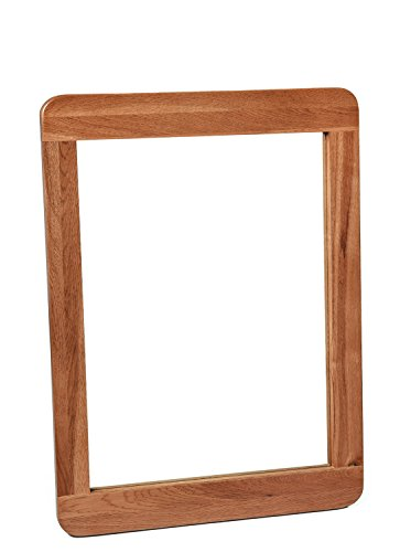 London Solid Oak Wall Mirror in Dark Oak Finish 80 for sale  Delivered anywhere in UK