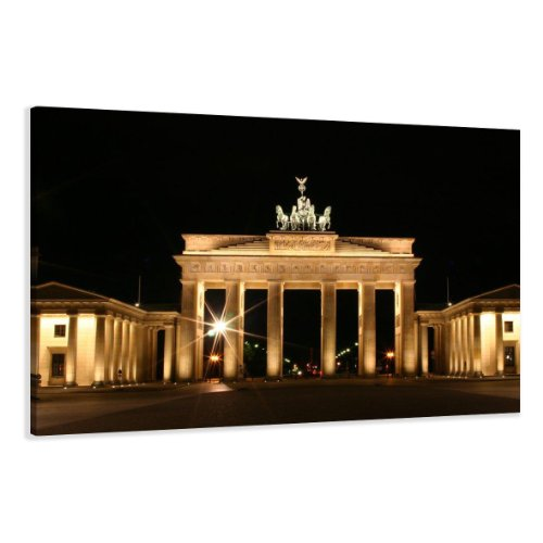 bestpricepictures 120 x 80 cm Bild auf Leinwand Berlin 5018-SCT deutsche Marke und Lager - Die Bilder/Das Wandbild/der Kunstdruck ist fertig gerahmt