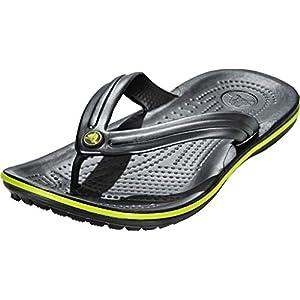 crocs Crocband Flip Sandals Graphite/Volt Green 2020 Sandalen