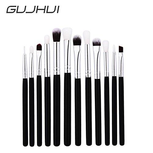 Malloom® 12 Pcs Mélangeur Fond de crayon Ombre à paupières Maquillage Brosses Eyeliner Brosse