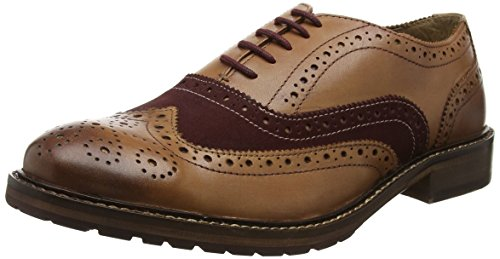 Joe Browns All New Vintage, Brogues Homme, Tan/Burgundy