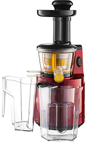 Gourmia GSJ200 Masticating Slow Juicer, Max Nutrient Fruit and Vegetable Juice - UK Plug