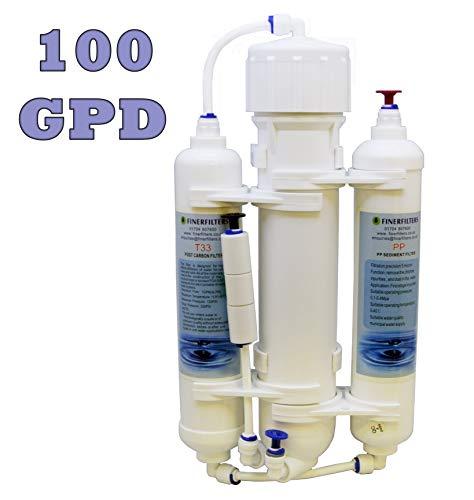 Finerfilters osmosi inversa acquario Compact Water Filter System 3Stage pesci tropicali, Discus & marine con 100Gpd membrane