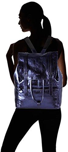 BREE Brigitte 24 S17, Sac à main à bretelles pour port en sac à dos Blau (blue Metallic)