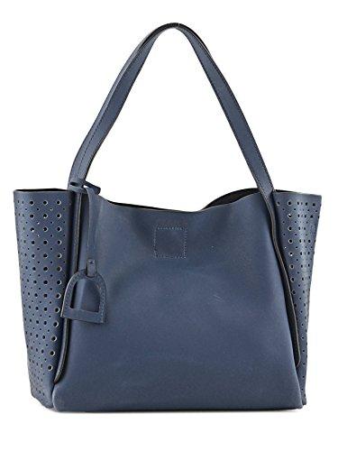 Sac Shopping Kyo Fantaisie Cuir femme bleu Bleu