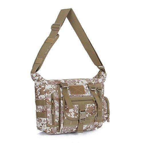 GOUQIN Zaino Outdoor Classico Moda Outdoor Tactical Singole Borse A Tracolla Messenger Bag Sport & Leisure Package, Giungla Il Deserto