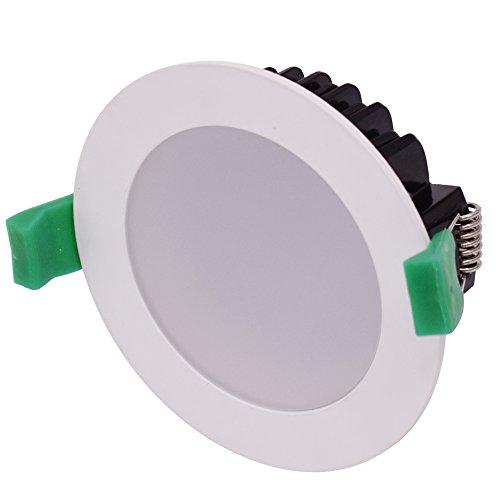 Halogen-downlight-kit (sishine Stück 6x 13W 3000K Warm Weiß DIMMBAR LED Einbauleuchte 1000LM 240V 90mm Ausschnitt Rahmen aus Aluminium IP44Deckenleuchte)