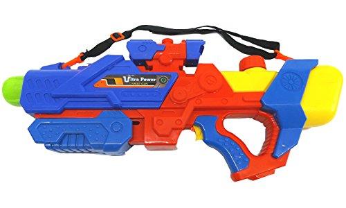 Preisvergleich Produktbild Brigamo 728512 - Große Wasserpistole Ultra Power Blaster mit Zielfernrohr und Tragegurt - extra großer 3 Liter Tank