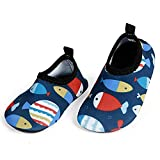 L-RUNJP Kinder Schwimmen Soack Kleinkind Wasserdichte Wasser Schuhe Atmungsaktive Fische 18-24 Monat = EU21-22