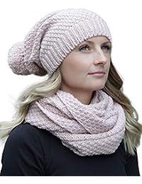 50c1236aee5 HILLTOP - Ensemble d hiver de foulard d hiver et bonnet assorti Bonnet