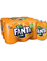 Fanta - Naranja, Refresco con gas, 330 ml (Pack de 9), Lata