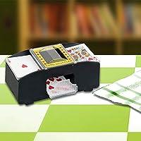 Elektrischer Automatischer Kartenmischer, Batterie Betriebener Kartensortierer Aus Holz mit 2 Decks, für Poker, Rummy, Brettspiel Poker