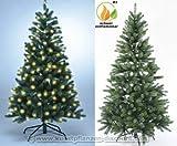 Künstlicher Tannenbaum mit Spritzguss Nadeln auf 766 Tips, LED Beleuchtung, Höhe 180cm - künstlicher Weihnachtsbaum - Tannenbaum künstlich - künstliche Weihnachtsbäume Christbaum