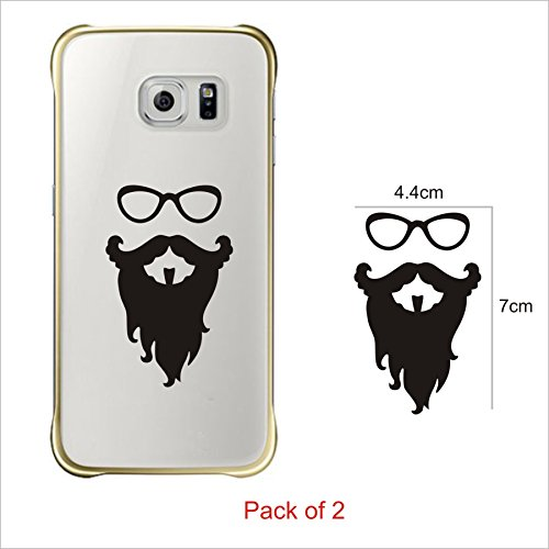 Fingers Bandholz Beard Stylish Decal (Pack of 2) Mobile Phone Skin Sticker