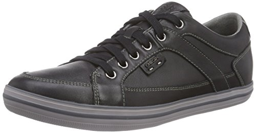 Geox U BOX D, Low-Top Sneaker uomo, Nero, 42