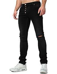 Tazzio 16512 Pantalon stretch en jean pour homme Coupe slim