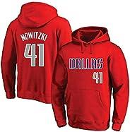 Dallas Mavericks Hoodie - Dirk Nowitzki # 41 NBA Long Sleeve Sweatshirt Mens Hoody Basketball Training Jersey