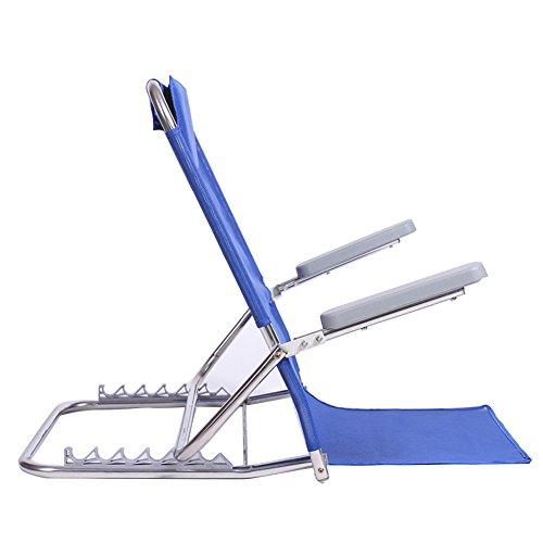 LIANGLIANG Boden Stuhl Zusammenklappbarer Unterstützungsstuhl der Multifunktions Breathable Metall, Hohe 34-65cm 2 Farben (Farbe : Blue)