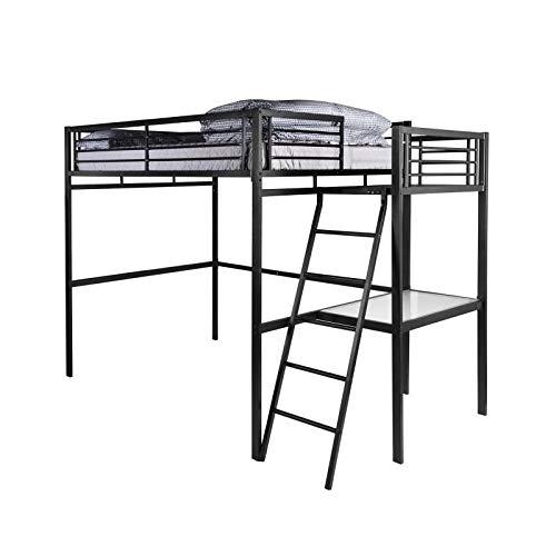 Grafik, cama en altillo para adulto con somier + escritorio ...