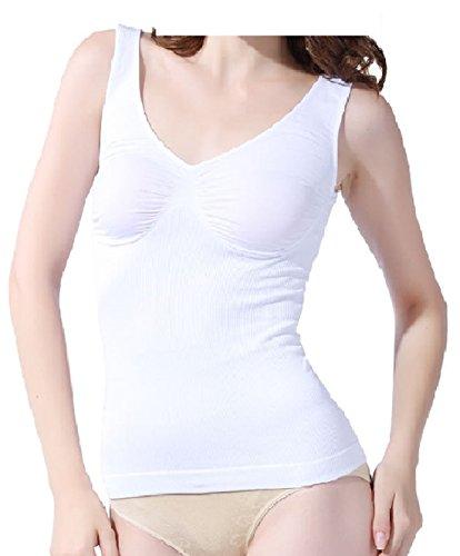 FLAVES FASHION Damen Formendes Top WHITE,