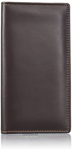 Dopp Men's Regatta Leather Checkbook Secretary, Brown, One Size (Buxton Wallet Tri-fold)
